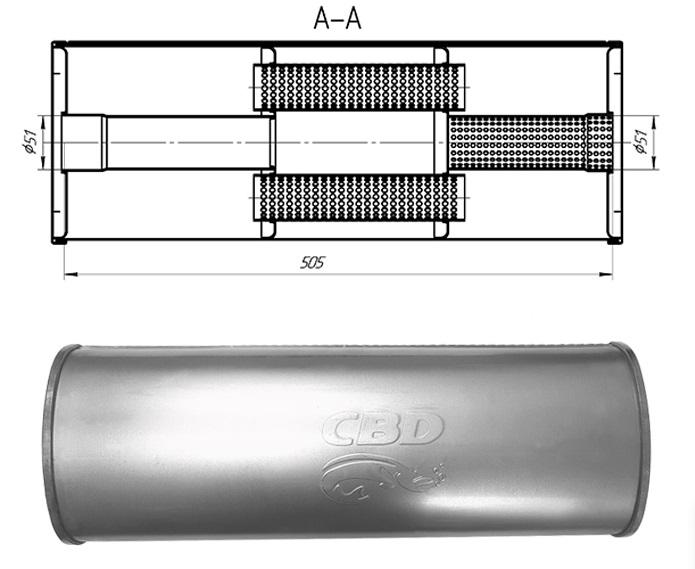Новые изделия. Универсальные глушители CBD430.001 — 004