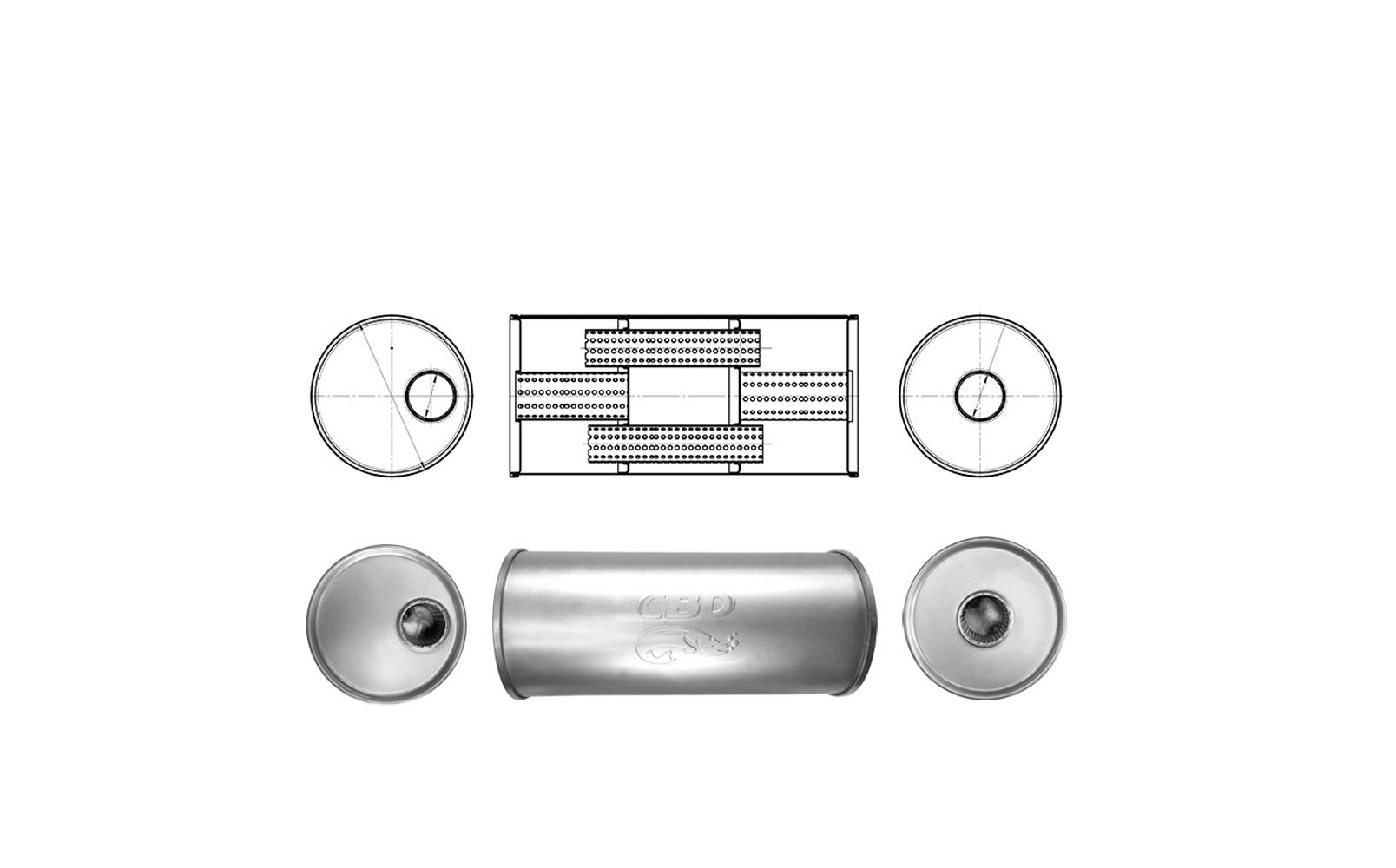 Новые изделия. Универсальные глушители под сварку Ø186 мм