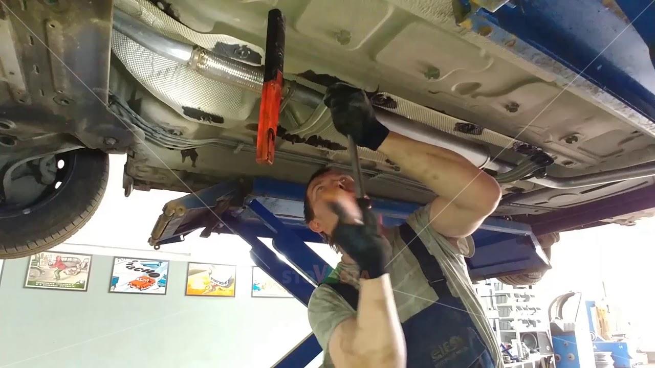 Lada Vesta — установка глушителя CBD