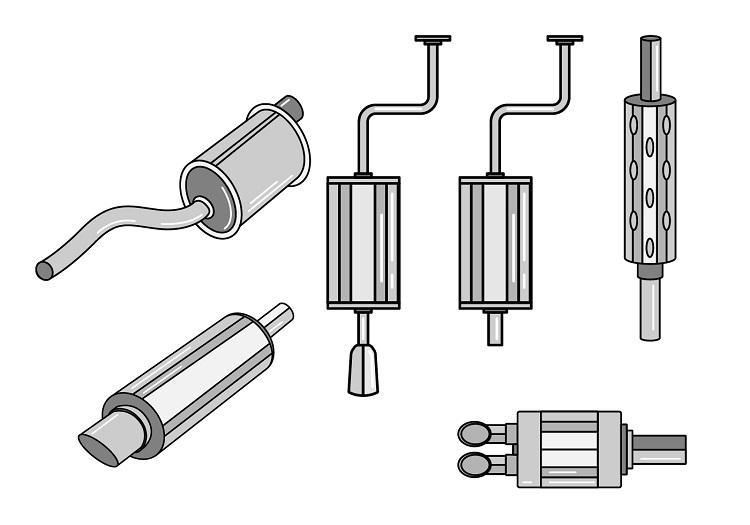 Новые изделия. Глушитель универсальный прямоточный CBD433.001